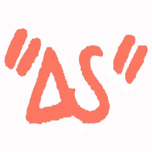 """""""ΔS"""">>-nettisarjakuvan logo"""